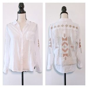🆕NWT Rails Charli Embroidered Button Down Shirt